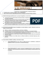 Tributario i - Lista de Exercicios 7