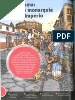 Roma de la monarquía al imperio