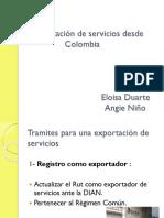 Exportación de Servicios Desde Colombia