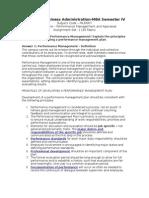 Performance Management & Appraisal MU0007 Set-1