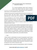 Texto de Apoio Plano Programa Projectos 1