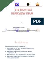 ante mortem interview team