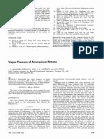 Vapor Pressure of Ammonium Nitrate Je60013a020