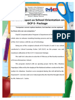 Narrative Report on School Orientation on DCP E.docx