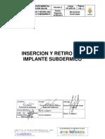 Insercion y retiro de implante subdermico
