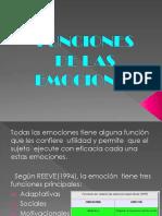 Funciones de Las Emociones