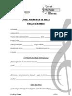 Ficha de Ingreso
