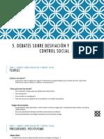 5. Debates Sobre Desviación y Control Social