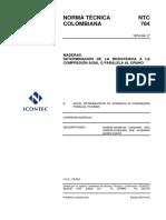 Compresion de maderas - Axial (NTC-784).pdf