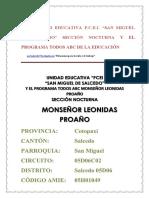 Proyecto Educativo Institucional 2018 Corregido