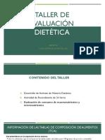 Clase 3 Taller de Evaluacion Dietetica