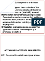 Topic 4.2 Actions by a Vessel in Distress