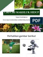 Ciri-ciri Makhluk Hidup KD 3.2.pptx