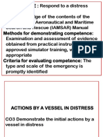 Topic 4.3 Actions by a Vessel in Distress