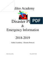 galileo academy disaster plan 2017-2018 pdf
