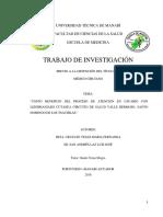 1.Costo Beneficio Del Proceso de Atencion en Usuario Con Leishmaniasis Cutanea Circuito de Salud Valle Hermoso Santo Domingo de Los Tsachilas