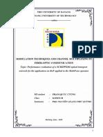 Kỹ thuật điều chế và ghép kênh trong thông tin sợi quang