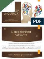 Aula 2 - Afasiologia Linguística