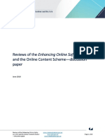 Reviews Enhancing Online Safety Act 2015 and Online Content Scheme Discussion Paper Mk4