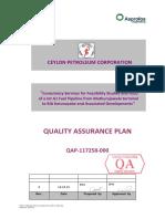 Quality Assurance Plan ASP & RDC