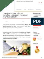 Learn Spanish - Vocabulario Polisémico - Spanish Podcast