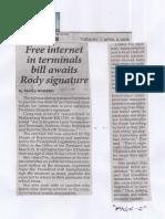 Philippine Star, Apr. 2, 2019, Free internet in terminals bill awaits Rody signature.pdf