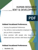 Holland Vocational Preferences