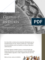 As cartas Ciganas e os Orixas