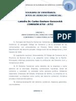 Programa Elementos de Derecho Comercial 2015