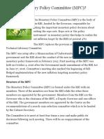 Monetary policy commitee