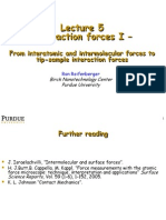 Interaction forces I
