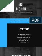D'Quor - Residential Portfolio