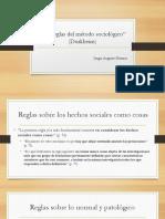 Las reglas del método sociológico (Durkheim)