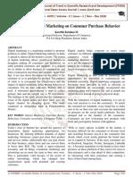 Influence of Digital Marketing on Consumer Purchase Behavior
