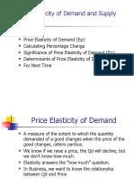 Micro L10 Elasticity of Demand