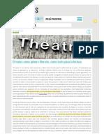 El Teatro Como Género Literario, Como Texto Para La Lectura - Llanuras-páginas-eliminadas