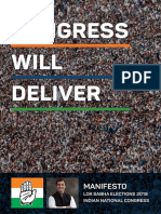 Congress Manifesto for 2019 Lok Sabha Elections