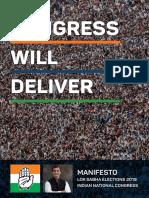 Congress Manifesto for 2019 Lok Sabha Elections