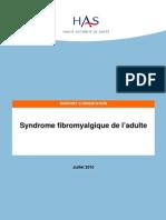 HAS Francia Consenso FIBROMIALGIA