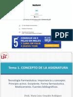 Tecnología Farmacéutica. Importancia y concepto.