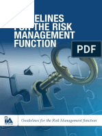 2017 Guidance for the Risk Management Function