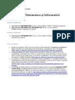 Facultatea de Matematica și Informatică.docx