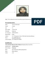 Resume Noor Ain Lsp 401