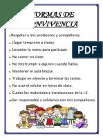 NORMAS DE CONVIVENCIA - 1° D