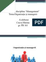 Organizatia Si Managerii