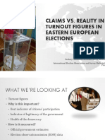 Microsoft PowerPoint Claims vs. Reality in Turnout Figures PowerPoint
