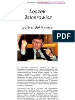 Leszek Balcerowicz - Portret Doktrynera