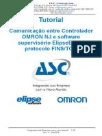 Tutorial. Comunicação entre Controlador OMRON NJ e software supervisório ElipseE3 via protocolo FINS_TCP..pdf