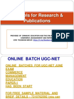 Ict Tools in Reserach - Topic of Research Aptitute Paper-1 Downlaod PDF