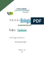 Cuestionaria Biología